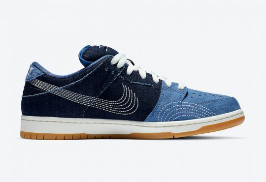 Nike Dunk SB Low  Denim Gum 配色鞋款 加入牛仔布面料元素缩略图