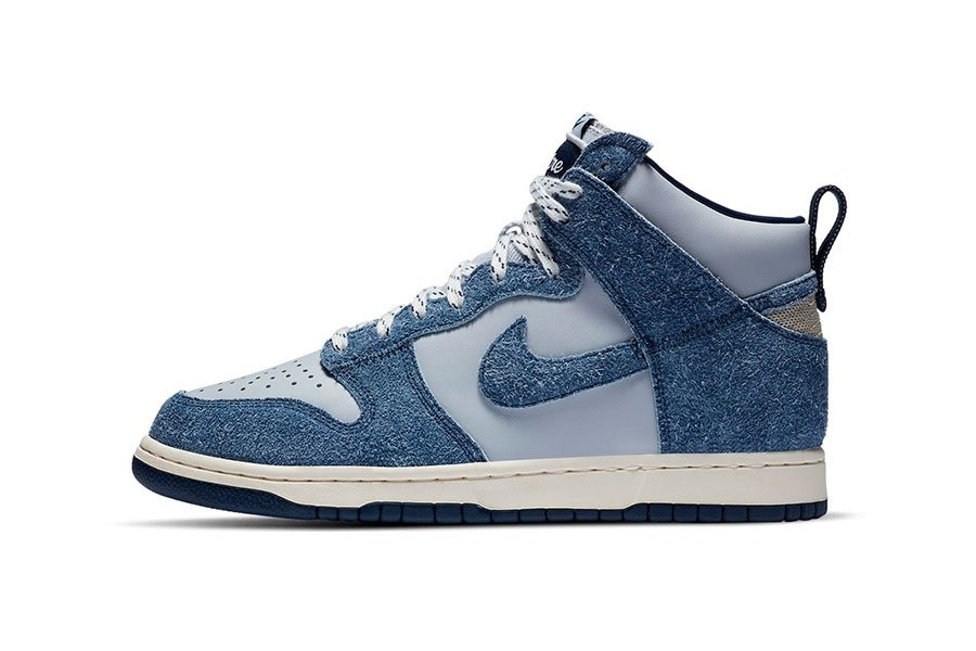 Notre x Nike Dunk High「Blue Void」绒面材质联名鞋款插图