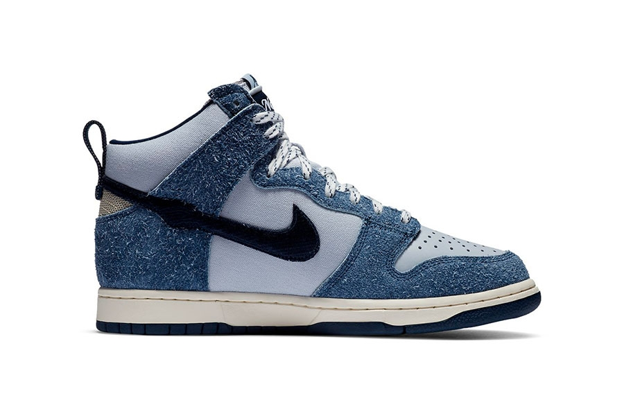 Notre x Nike Dunk High「Blue Void」绒面材质联名鞋款插图1