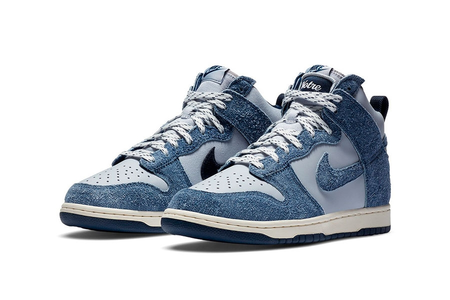 Notre x Nike Dunk High「Blue Void」绒面材质联名鞋款插图2