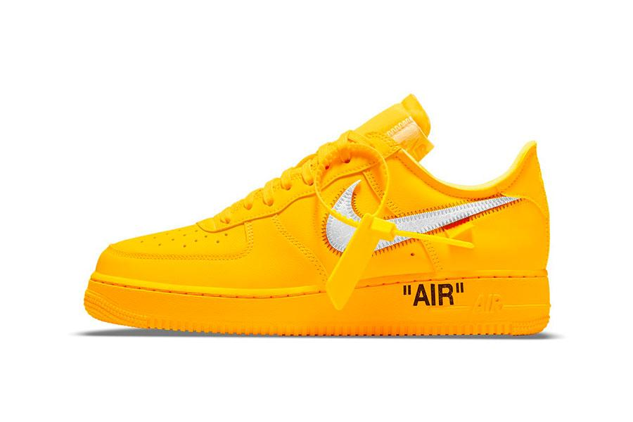 Off-White™ x Nike Air Force 1 「University Gold」配色插图
