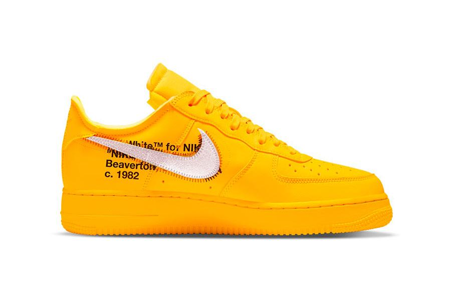 Off-White™ x Nike Air Force 1 「University Gold」配色插图1