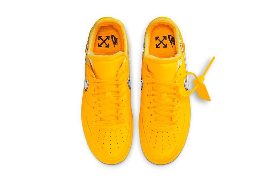 Off-White™ x Nike Air Force 1 「University Gold」配色插图3