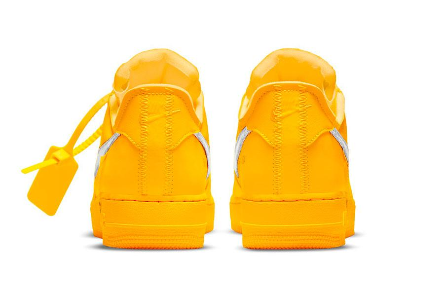 Off-White™ x Nike Air Force 1 「University Gold」配色插图4